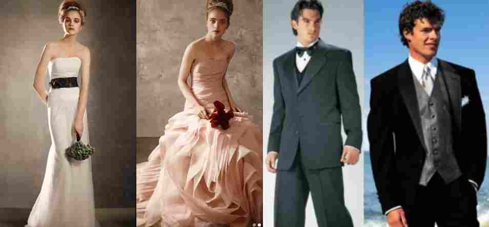 Wedding dresses and formal outfits